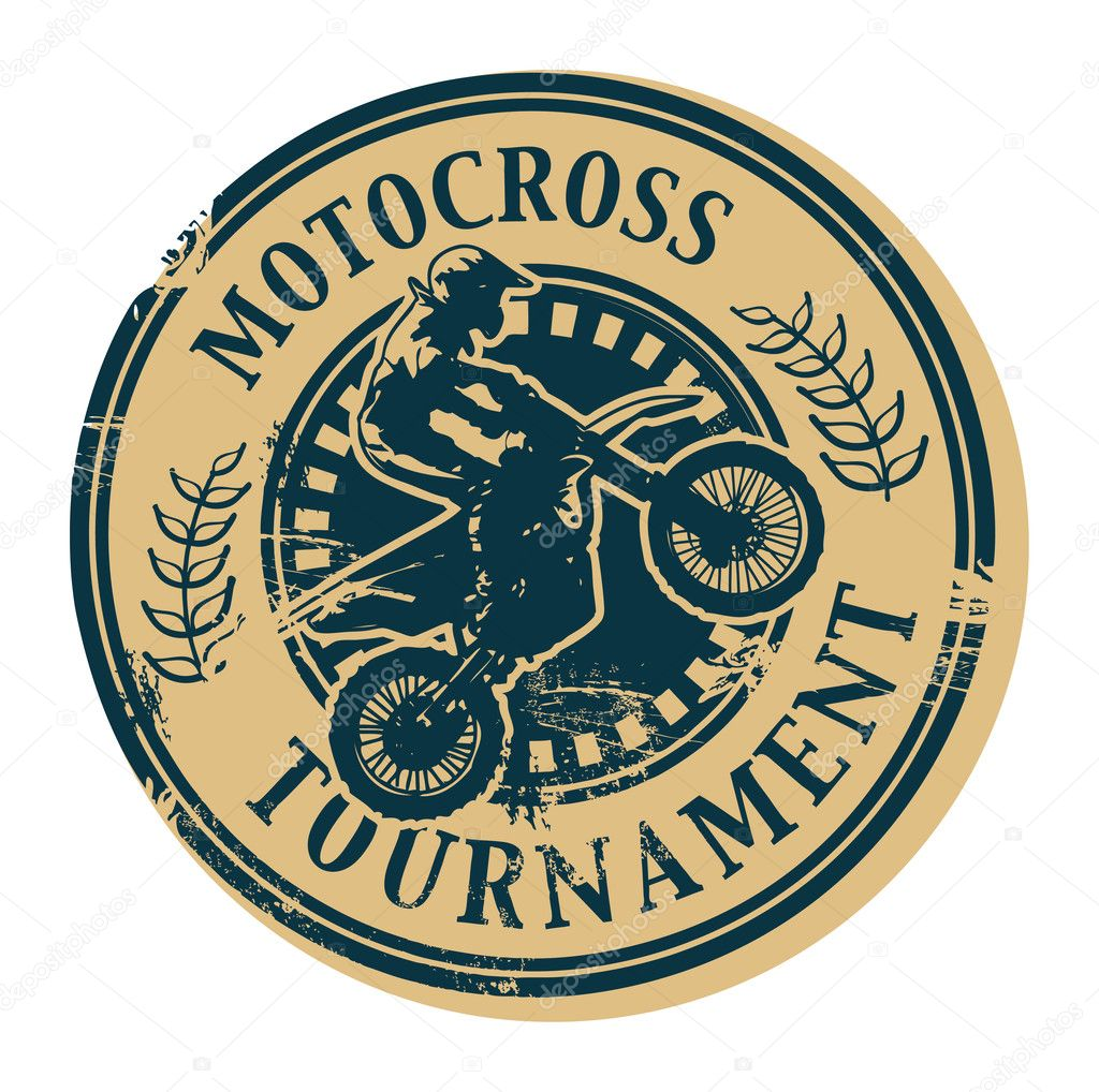 Motocross Tournament stamp  Stock Vector #13545955