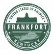 Kentucky, Frankfort stamp — Stock Vector