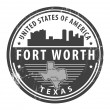 Texas, Fort Worth stamp — Stock Vector