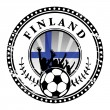 Football fans stamp - Stockvectorbeeld
