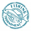 Fishing Tournament stamp — Vettoriali Stock