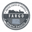 North Dakota, Fargo stamp — Stock Vector