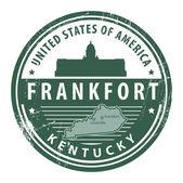 Kentucky, Frankfort stamp — Stock Vector