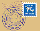 Set of air mail symbols — Stock Vector
