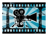 Background with movie camera — Stock Vector