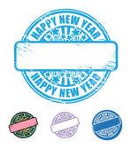 Happy New Year stamp — Stock Vector
