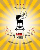 Grill Menu — Stock Vector