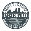 Royalty-Free Stock Vector Image: Florida, Jacksonville stamp