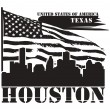Texas, Houston label - Stock Vector