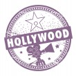 Stock Vector: Hollywood stamp