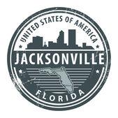 Florida, Jacksonville stamp — Stock Vector