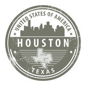 Texas, Houston stamp — Stock Vector