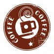 Royalty-Free Stock Vector Image: Stamp with coffee cup