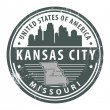 Stock Vector: Missouri, Kansas City stamp
