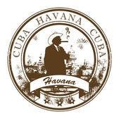 キューバ、ハバナのスタンプ — ストックベクタ