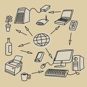 Komunikační symboly — Stock vektor