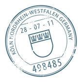 Koln, Germany stamp — Stock Vector