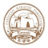 Karachi, Pakistan stamp — 图库矢量图片