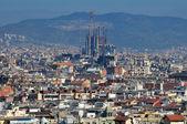 Barcelona city panorama — Stock Photo
