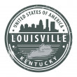 Kentucky, Louisville stamp — Stock Vector #14572591