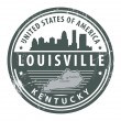 Kentucky, Louisville stamp — Stock Vector