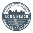 Stock Vector: California, Long Beach stamp