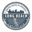 California, Long Beach stamp — Stock Vector #14572773