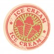 Ice cream label — Stock Vector