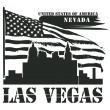 Nevada, Las Vegas stamp — Stock Vector #14573909