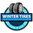 Stock Vector: Winter Tires label