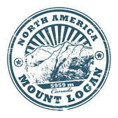 Mount Logan stamp — Stock Vector