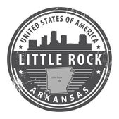 Arkansas, Little Rock stamp — Stock Vector