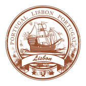Lisbon, Portugal stamp — Stock Vector