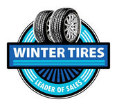 Winter Tires label — Stock Vector