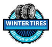 Vinter däck etikett — Stockvektor