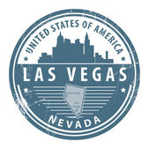 Nevada, Las Vegas stamp — Stock Vector