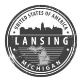 Michigan, Lansing — Stock Vector