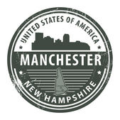 New Hampshire, Manchester stamp — Stok Vektör