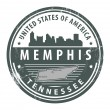 Tennessee, Memphis stamp — Stock Vector #14888833