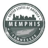Tennessee, Memphis stamp — Stock Vector