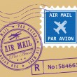 Air mail symbols — Stock Vector #14898627