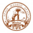 Stock Vector: Madrid, Spain stamp