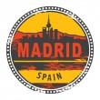 Madrid, Spain stamp - Stock Vector