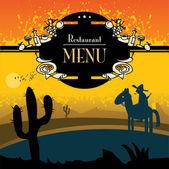 Menu restaurante — Vetorial Stock