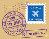 Símbolos do correio de ar — Vetorial Stock