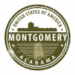 Stock Vector: Alabama, Montgomery stamp