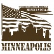 Minnesota, Minneapolis stamp - Stock Vector