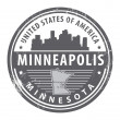 Stock Vector: Minnesota, Minneapolis stamp