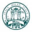 Milan, Italy stamp — Stock Vector #15322875