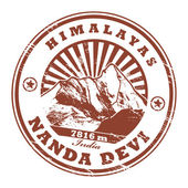 Mount Nanda Devi, India stamp — Vetorial Stock